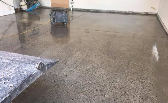 Polished Concrete With Exposed Aggregates